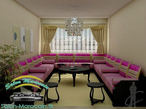rideau salon marocain impressionnant salon marocain moderne. Black Bedroom Furniture Sets. Home Design Ideas