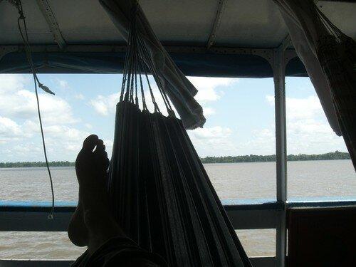 Sur le bateau, vers Manaus