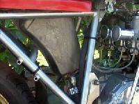Réservoir d'essence de cyclo VAP transformé en réservoir d'huile