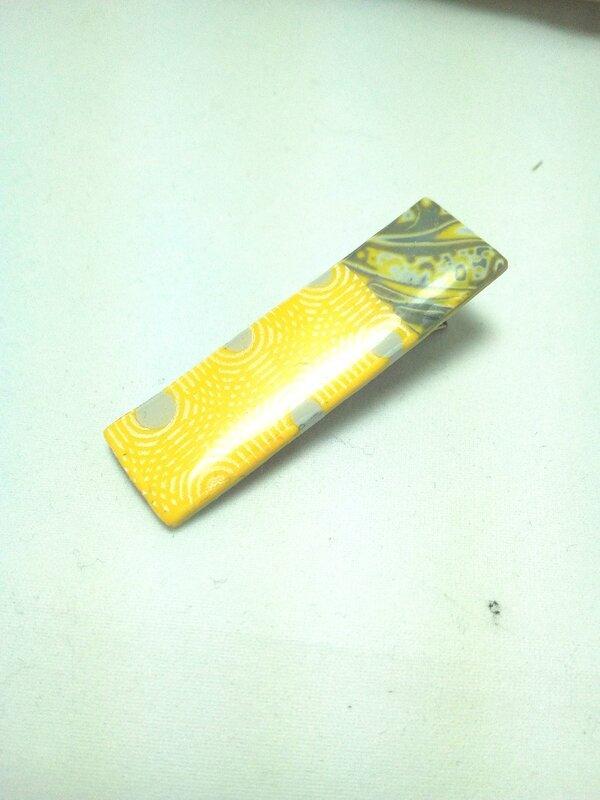 barrettes jaune et gris 2