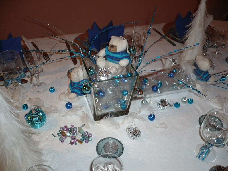 R veillon de no l la table le blog d 39 elodie for Table de noel argent et blanc