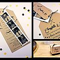 Faire-part de mariage original photomaton vintage