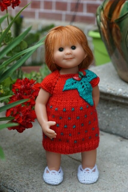Lily robe fraise