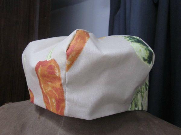 Chapeau de pluie beige imprimé salades piments et navets pour un esprit potager - taille 60 (12)