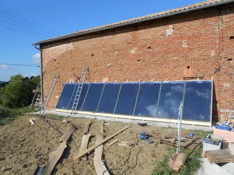 Installation panneaux pour système solaire combiné