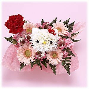 bouquet de fleurs hello kitty