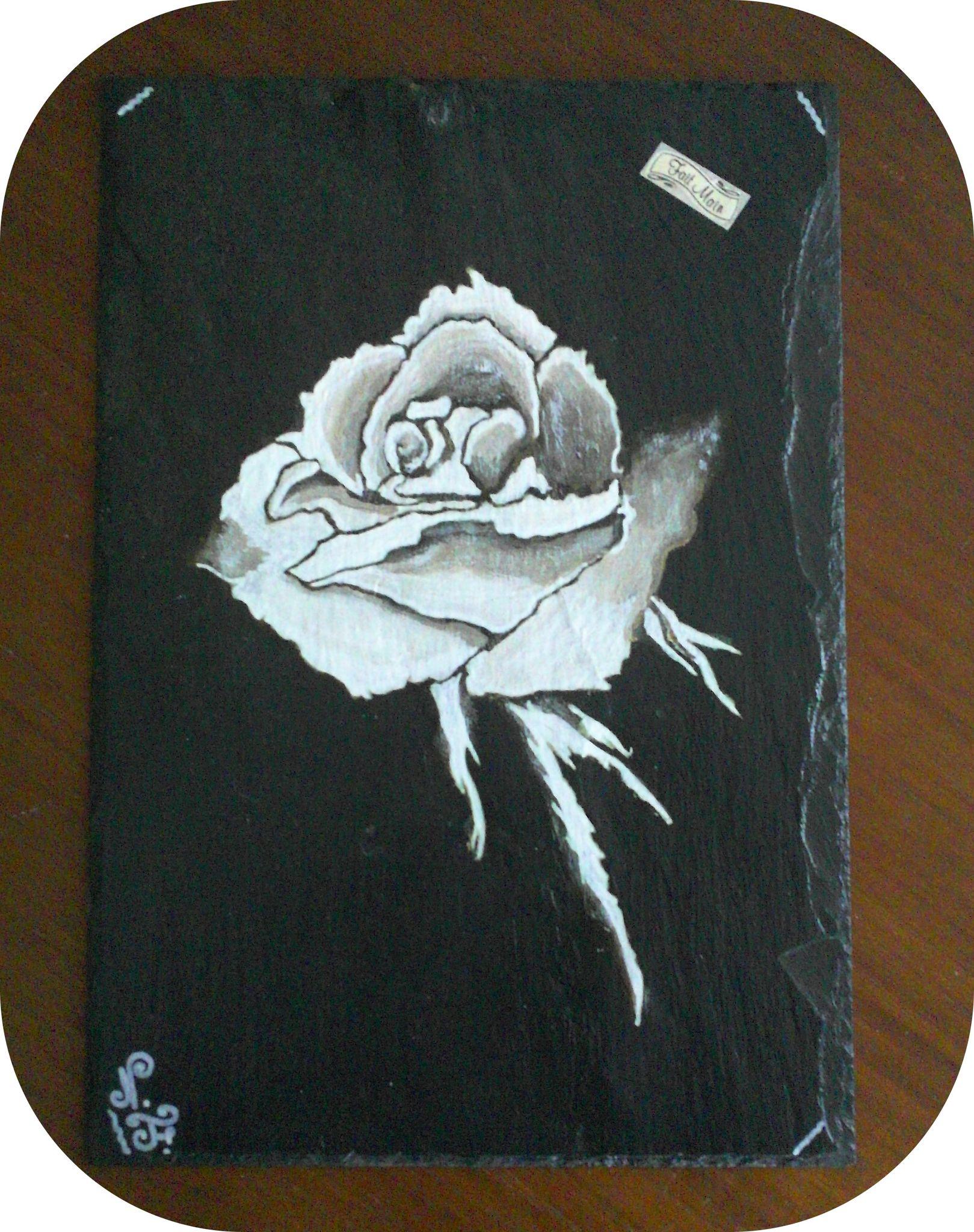 Rose couleur sépia