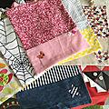 Toute une collection de serviettes à élastiques , ça permet de liquider les chutes de tissus !!!