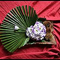 Art floral 2éme cours Bouquet sur écorce
