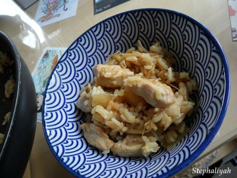 Riz poulet soja - 2