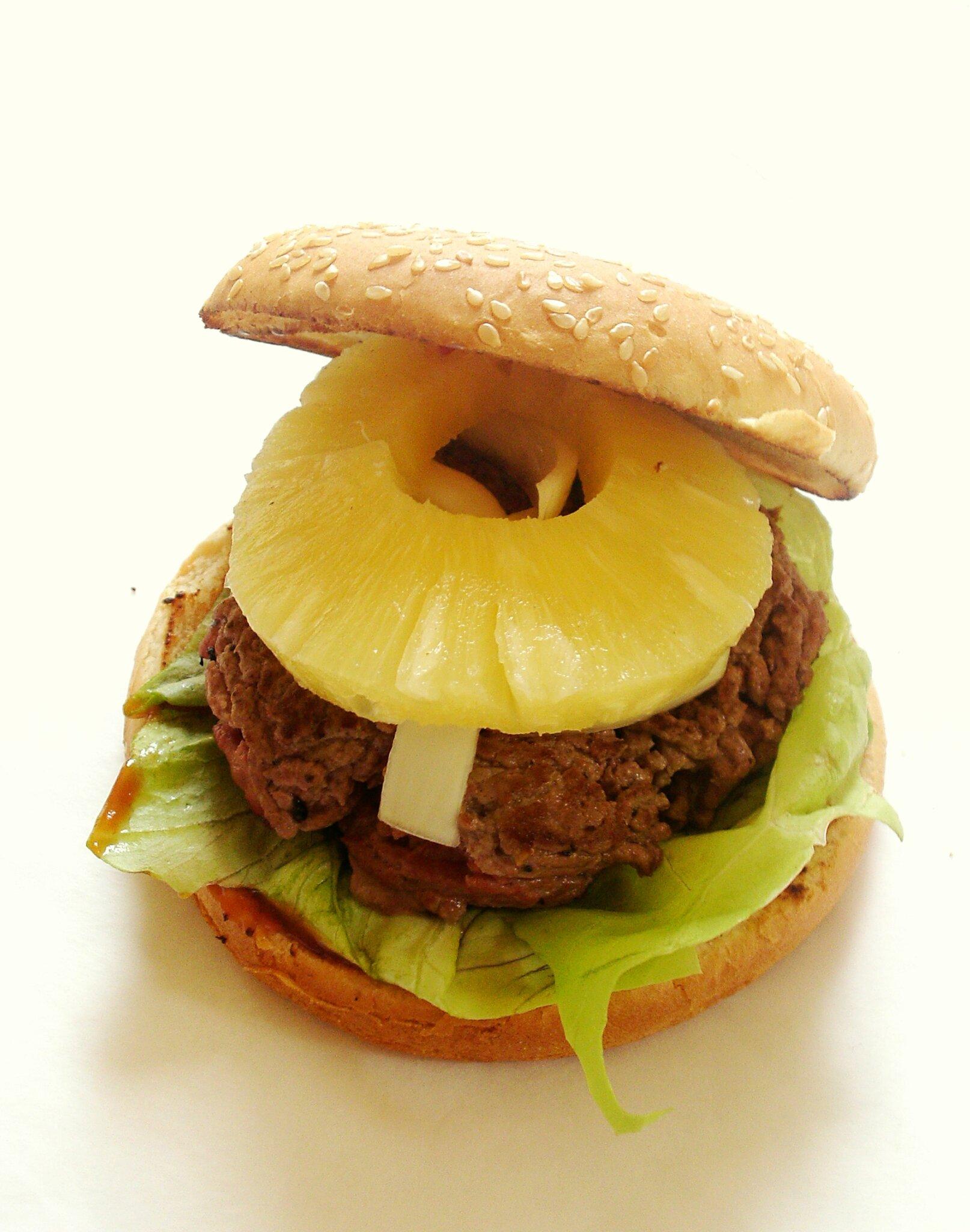 Recette de hamburger maison au boeuf et à lananas - 120 street cook ...