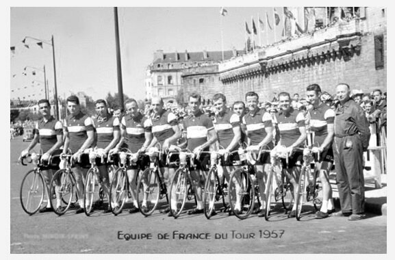 CPA Tour 1957 Equipe de France 2