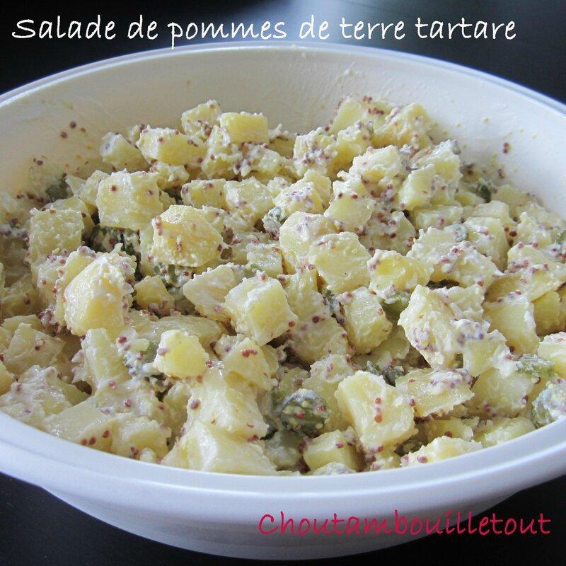 Salade de pommes de terre tartare choutambouilletout - Appareil pour couper les pommes de terre en rondelles ...
