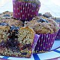 Muffin monday # 28 : muffin aux griottes, cherry brandy et chocolat de noël