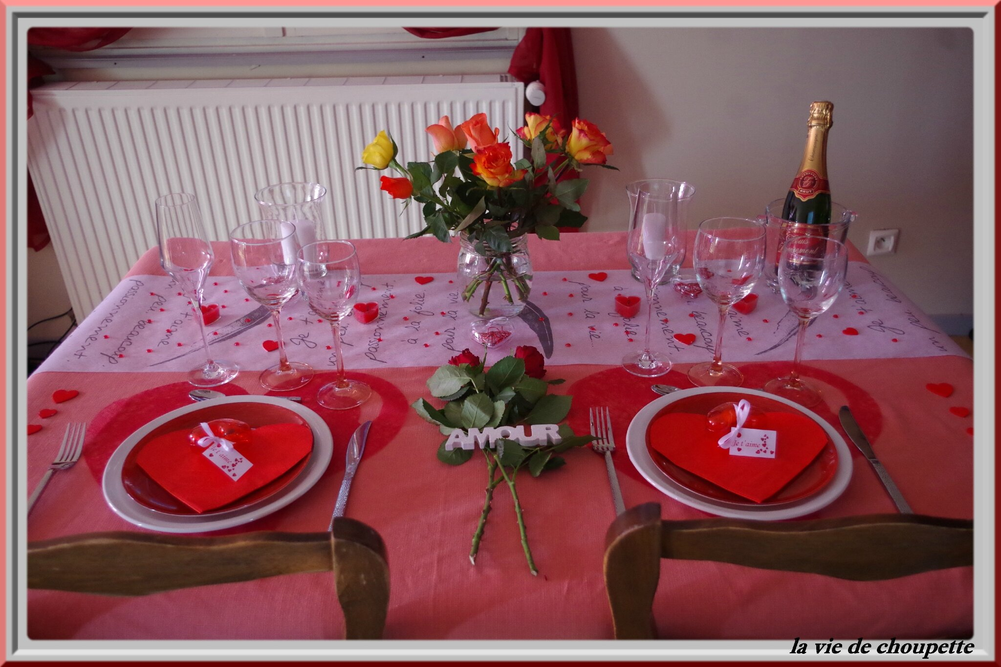MA TABLE SAINT-VALENTIN n°2