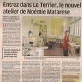L'atelier de poterie de saint chamas, le terrier, dans la presse !