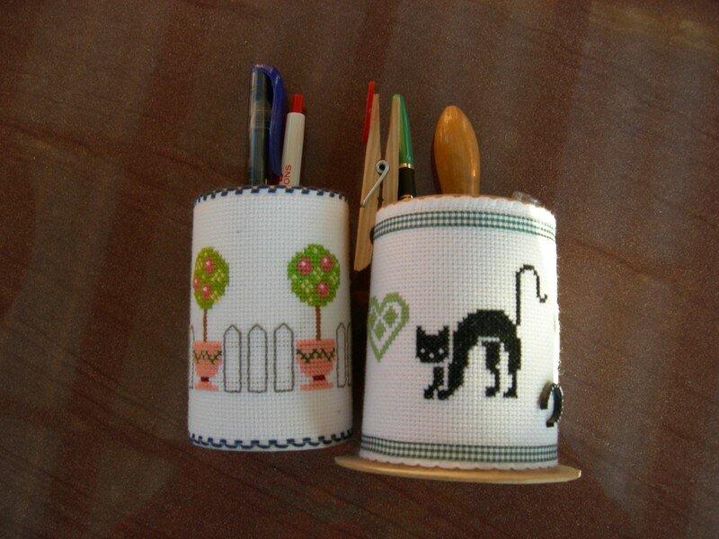 mes pots à crayons