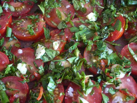 Préparation tomates confites