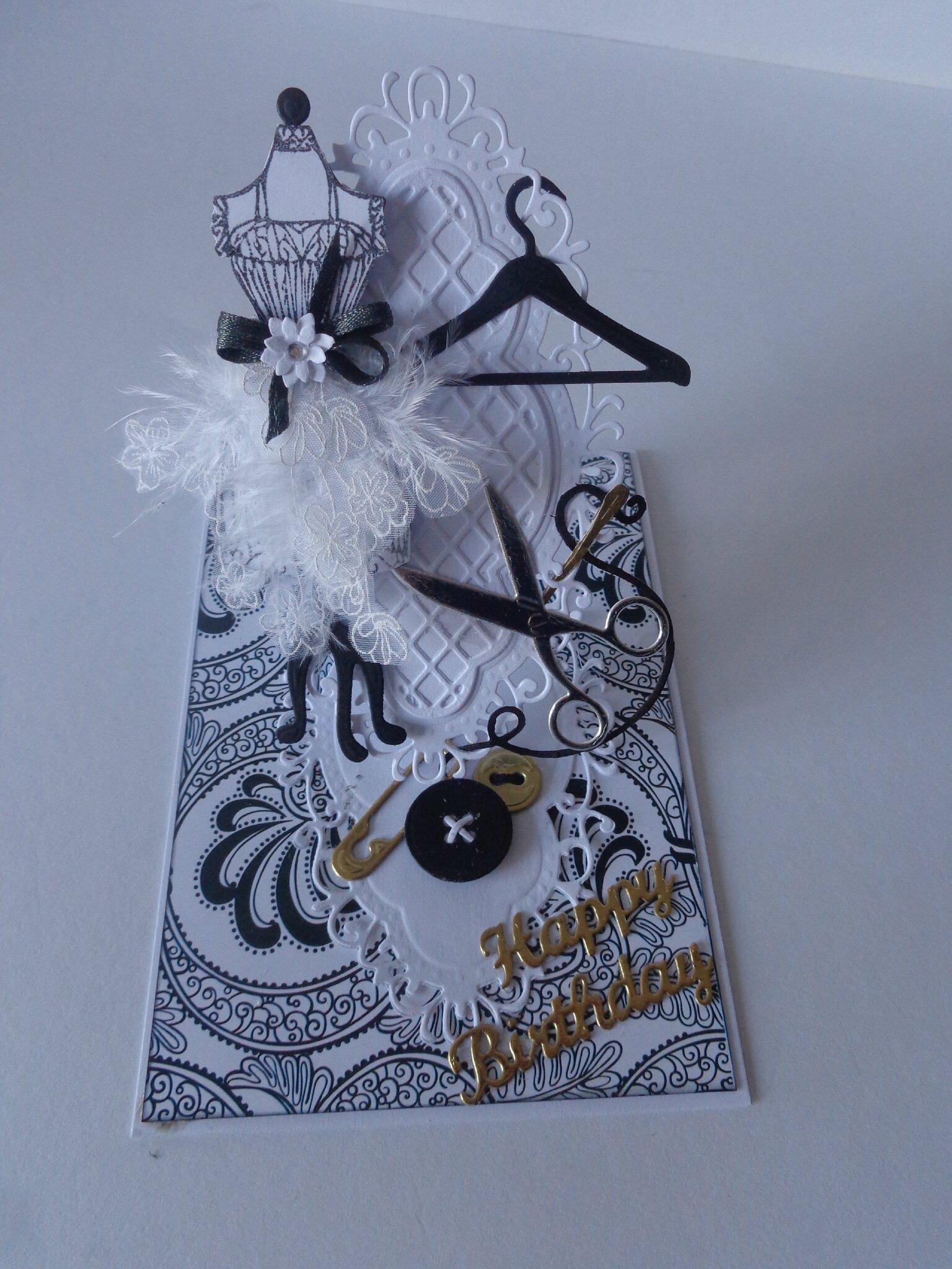 "Carte chevalet ""thème couture"""
