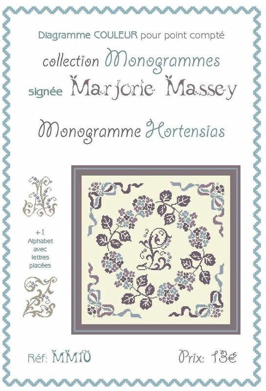 MM10 - Monogramme Hortensias