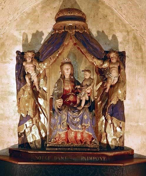Paimpont, église abbatiale Notre Dame, statue de Notre Dame