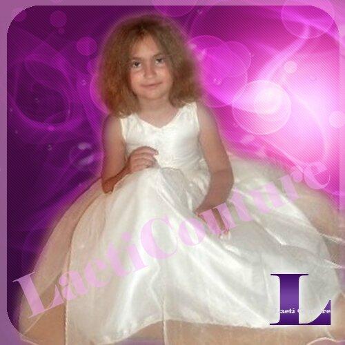 robe cortège enfant ivoire 1