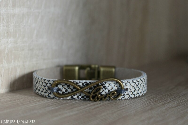 fin bracelet serpent LOVE (2)