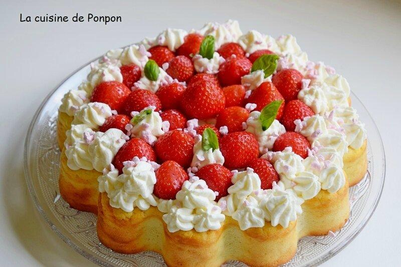 gateau fromage fraises (1)