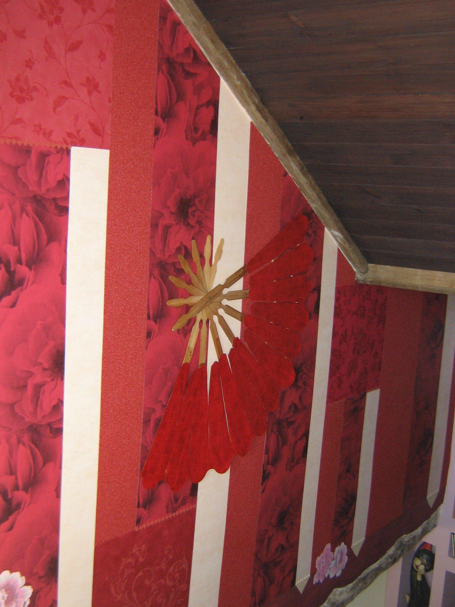 D coration murale en papier peint dans un escalier l s for Decoration murale papier