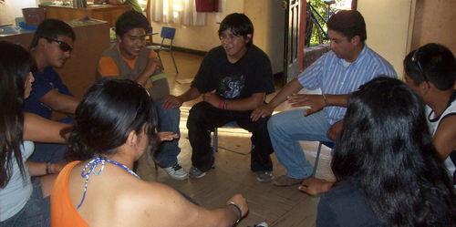 El taller de Teatro con Los jóvenes y el tío Cristian C.