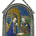 The adoration of the child, french, limoges, early 16th century