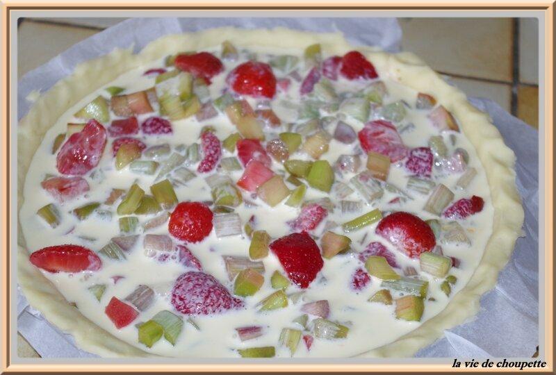tarte fraises-rhubarbes meringue italienne-9