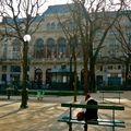La Gaïté lyrique depuos le square Emile Chautemps.