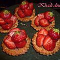 Tartelette fraises-pistache