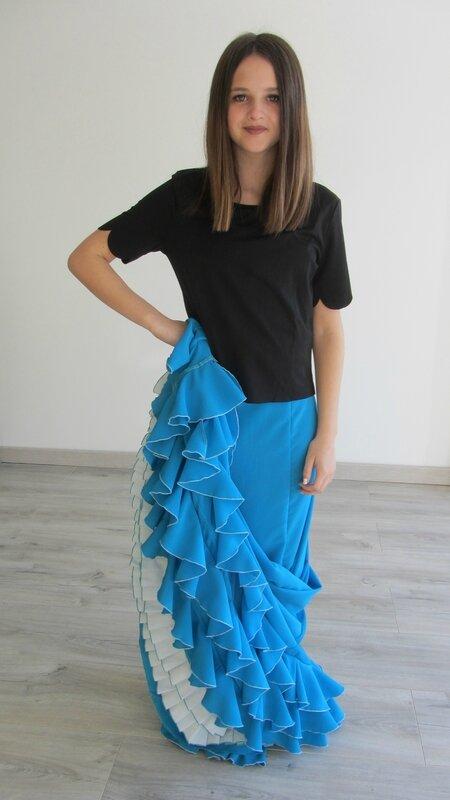 Bata de cola turquoise