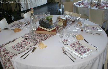 Mariage table fleurs