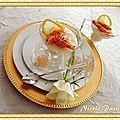 Pannacotta crevettes et lait de coco