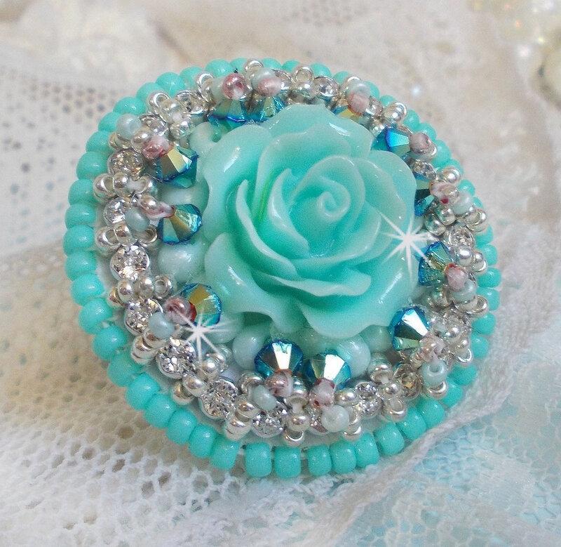 Bague Blue Flowers 9-1