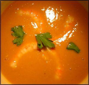Velouté de potiron, lait de coco, curry2