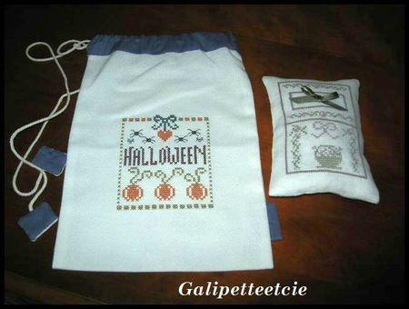 Pochon Halloween et son coussinet