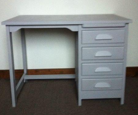 ancien bureau comptable revisite gris atelier darblay le meuble d 39 c t. Black Bedroom Furniture Sets. Home Design Ideas