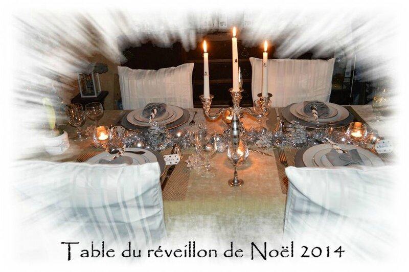 Table du réveillon de Noël 2014 & ronde des étoiles