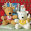 Reindeer and polar bear - best friends - christmas special - jean greenhowe