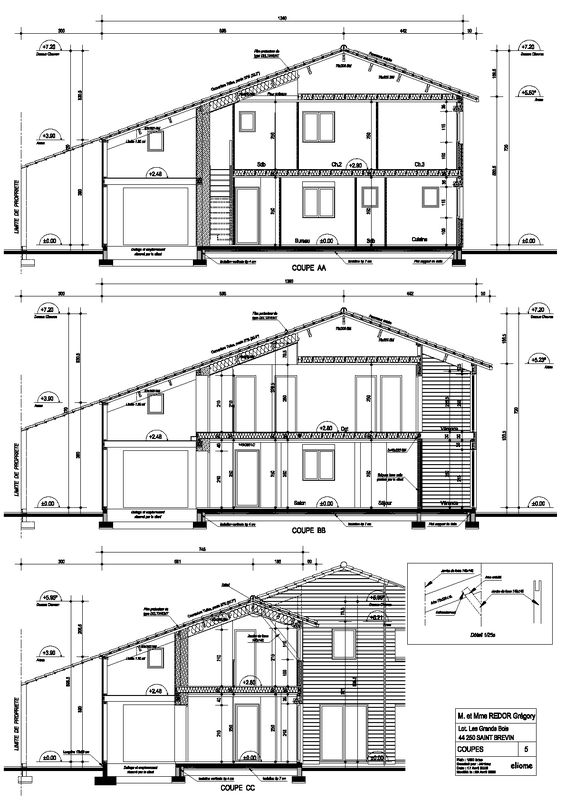 Plan d taill coupes photo de plans d taill s la for Agnes b la maison sur l eau