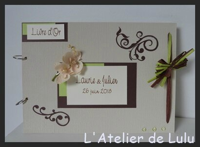 livre d'or arabesques anis et chocolat