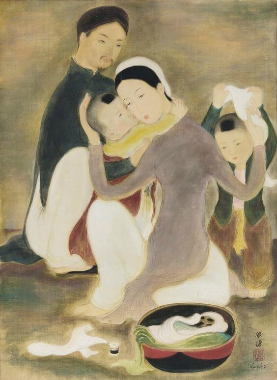 Lê Phô (1907-2001), La famille (The Family), circa 1938-40