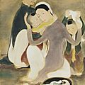 Lê phổ (1907-2001), la famille (the family), circa 1938-40