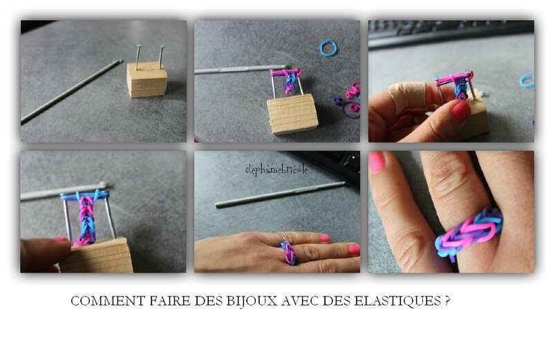 tuto diy comment faire des bracelets avec des lastiques st phanie bricole. Black Bedroom Furniture Sets. Home Design Ideas