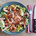 Salade de crevettes et nouilles de riz pimentée