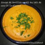 soupe lentilles corail coco